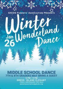 Middle School Dance - Winter Wonderland @ GHCDS Pavilion