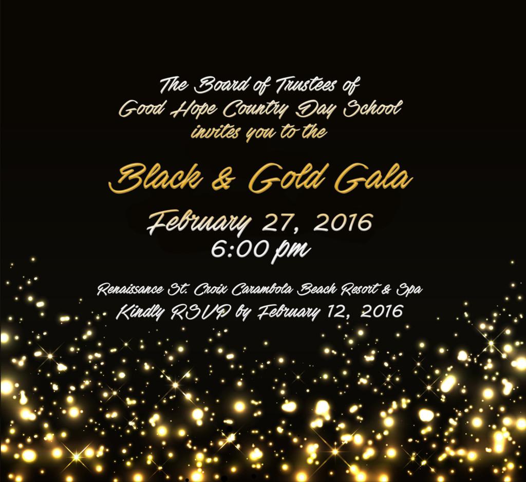Invitation Black & Gold Gala website image